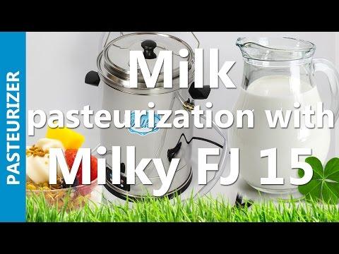 Milk pasteurization with Milky FJ 15 | mini pasteurizer