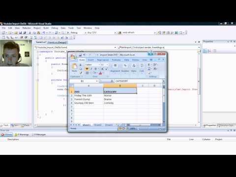 C# Import From Excel Using OleDb Tutorial