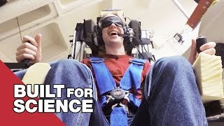 Blindfold Balancing in the Spinning Space Chair