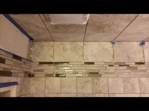 Install Tiles In A Shower Between The Wall  And The Ceiling- Using QEP's LASH Tile Leveling System