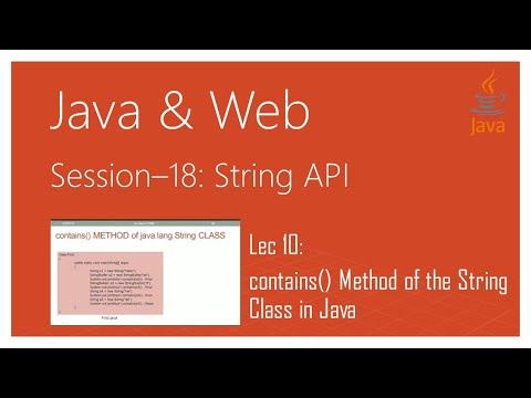 String API in Java | #10 | contains() Method of the String Class in Java