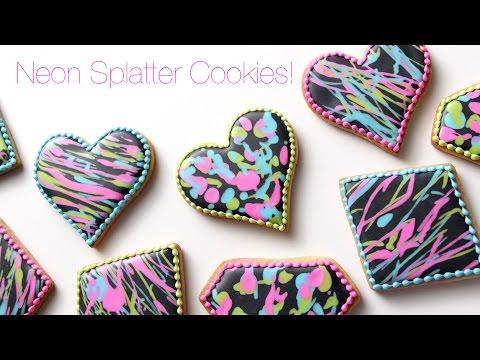 Neon Splatter Cookies!