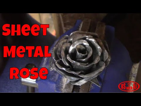 How To Make A Sheet Metal Rose!