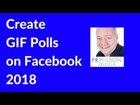 Create GIF polls on Facebook 2018