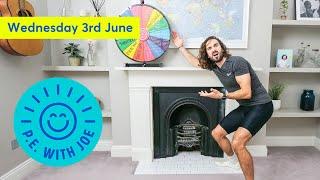 PE With Joe | Wednesday 3rd June