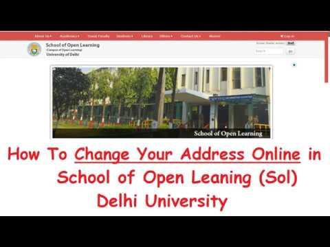 How to Change Address in School of Open Learning (SOL) DU Online