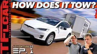 Download Can Electric Cars Tow? We Max Out A Tesla Model X & Kill The Battery to Find Out! Adventure X Ep.1 Video