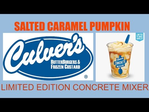 CULVER'S NEW SALTED CARAMEL PUMPKIN CONCRETE MIXER REVIEW #189