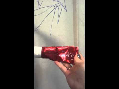 Removing marker from white walls