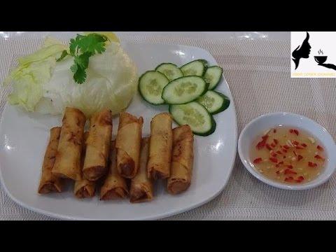 Vietnamese Prawns & Pork Spring Rolls