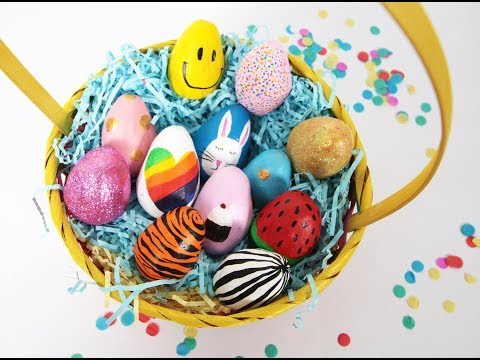 Make Your Own Easter Eggs with Air Hardening Clay