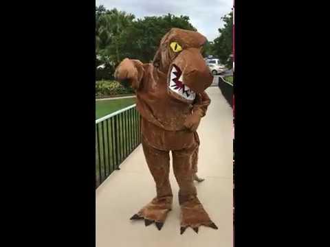 Brad in T-Rex costume
