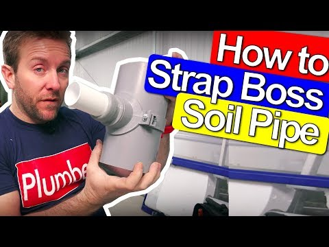 SOIL PIPE STRAP BOSS - HOW TO DRILL AND INSTALL
