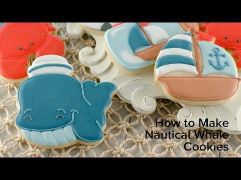How to Make Nautical Whale Cookies