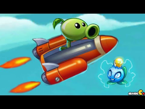 Plants Vs Zombies 2: NEW Plant Electric Blueberry Sky Castle Star War Mini Games ! (PVZ 2 China)