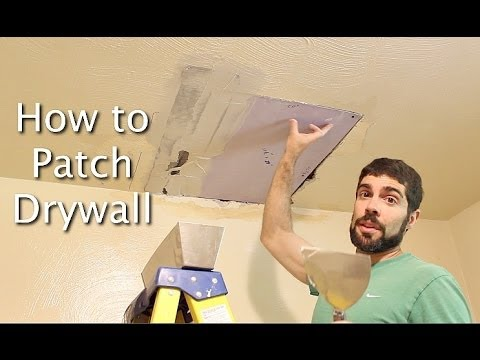 How to Patch Drywall -- by Home Repair Tutor