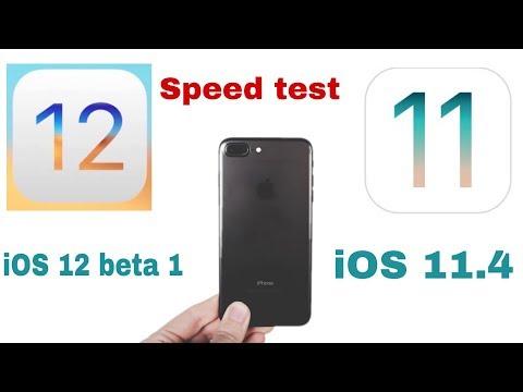 iOS 12 Developer Beta 1 vs iOS 11.4 speed test on iPhone 7 plus | iSuper
