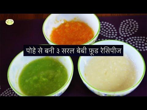 पोहे से बनी ३ सरल बेबी फ़ूड रेसिपीज    3 Easy Poha/ Beaten Rice Baby Food in Hindi
