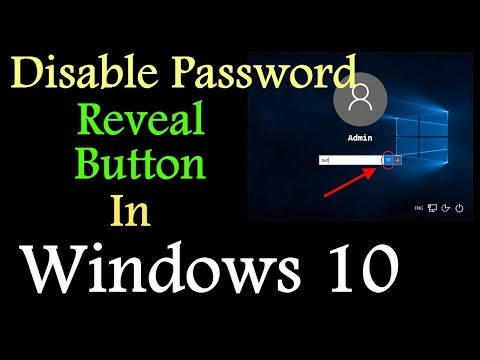 Disable Password Reveal Button In Windows 10 | PCGUIDE4U