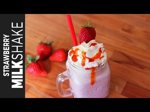 স্ট্রবেরি  মিল্ক শেক | Strawberry Milkshake | How to Make Milkshake | Homemade Ice Cream Milkshake