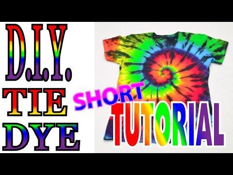 DIY Tie Dye Rainbow spiral [Short Tutorial] #37