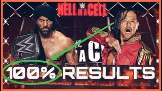 WWE Hell In A Cell 2017 : 100% Results Predictions