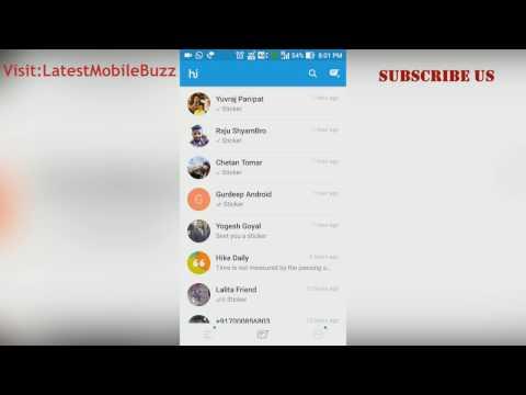 [How To] Hike Messenger Hidden Password Mode and Reset Hidden Mode Settings [HINDI]