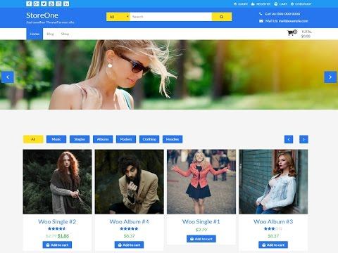 StoreOne Theme,  WooComerce - Create  Ecommerce Shopping Site (Online Store) in 20 minutes - 2017