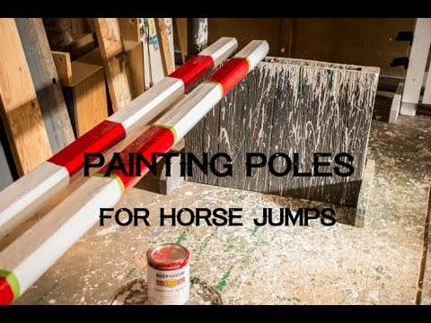 Painting Poles for Horse Jumps