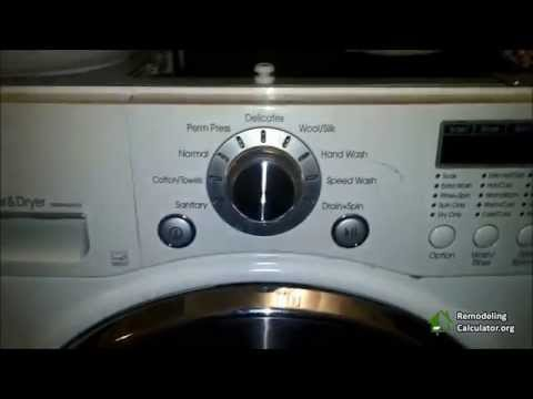 LG Washer & Dryer Repair (Remove Lint) - Part 2
