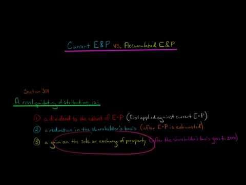 Current E&P vs. Accumulated E&P (U.S. Corporate Tax)