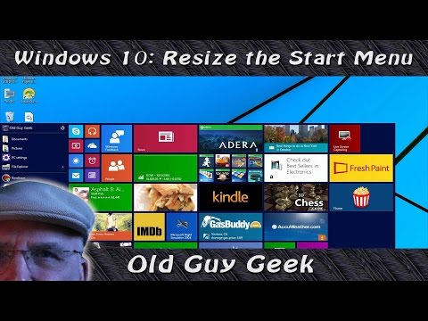 Windows 10 Tips & Tricks - Resize the New Start Menu