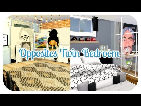 The Sims 4 | Room Build: Opposites Twin Bedroom | CC LINKS!