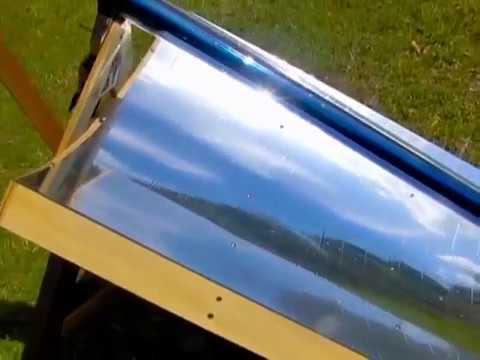 Solar Power Parabolic Trough Mirror Kit Evacuated Solar Tube BOIL WATER DISTILL