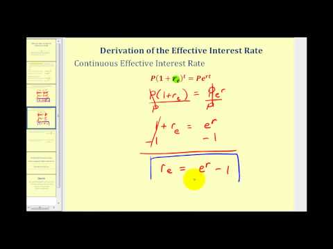 Effective Interest Rate (Effective Yield)