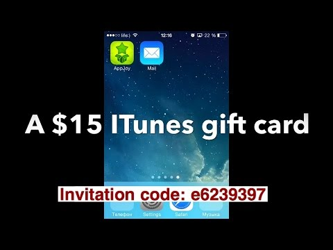 App Nana / AppJoy 2014 -How I got and redeemed $15 Itunes gift card(proof)invitation code: e6239397