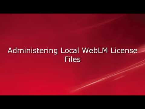 APS CMS Connectors WebLM Interface