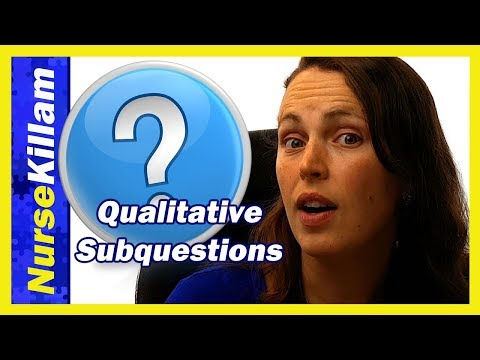 How to write qualitative subquestions in a Research Proposal.  Application of Creswell and Poth.
