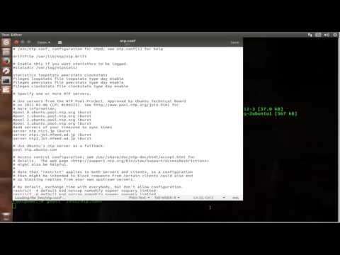 Setup Time Synchronization NTP Server on ubuntu 17.04 zesty zapus