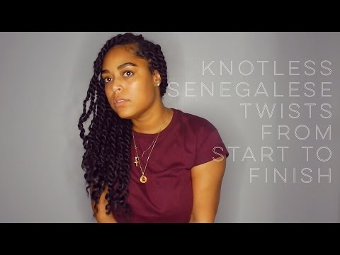 NATURAL LOOKING KNOTLESS SENEGALESE TWISTS | FROM START TO FINISH | Danielle Renée