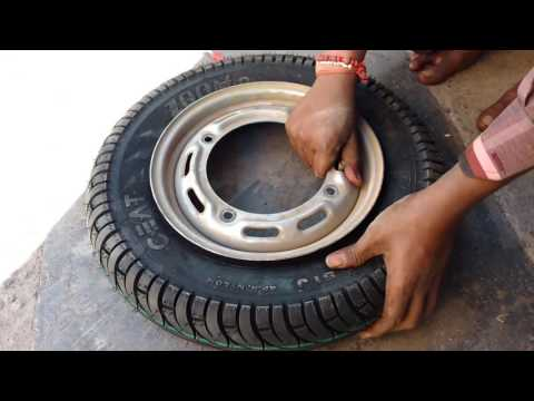 How to replace CEAT tubeless tyre in just10 minuts