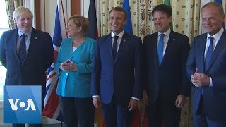 EU Leaders Gather for Meeting at G-7 Summit