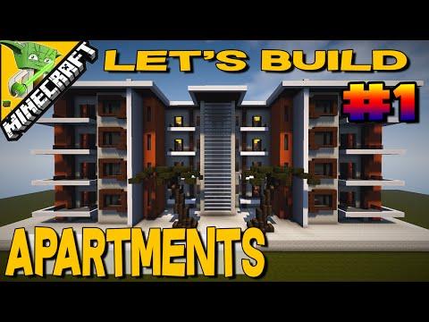 Minecraft Let's Build Apartments #1/4