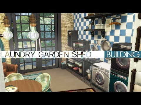 The Sims 4 Building - LAUNDRY GARDEN SHED (Laundry Day Stuff Pack)