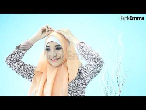 Tutorial Hijab Segi Empat Chic Menutup Dada