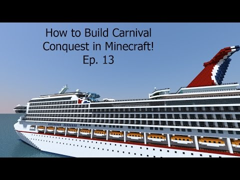 How to Build a Cruise Ship in Minecraft! Building Carnival Conquest Ep. 13