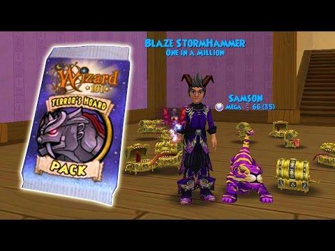 Wizard101: BEST PACK LUCK! - Lvl 120 Terror's Hoard Pack