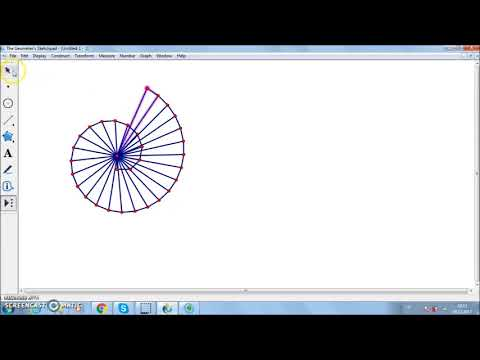 How to Construct the Square Root Spiral in Geometer's Sketchpad