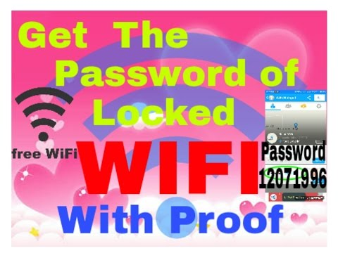 How to get the password of a locked WiFi ? Auto search your nearest WiFi. ( 100% PROVED )