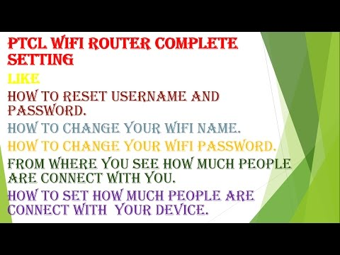 how to change wifi password ptcl